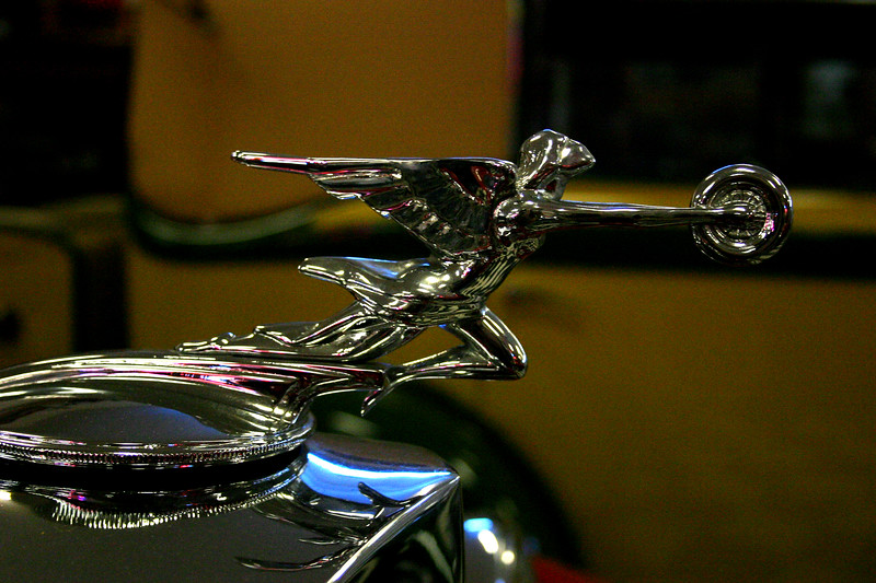 Automotive Sculpture, aka: Hood Ornament - Wiseman Collection - Tarpon Springs, Florida Hood Ornaments of classic automobiles