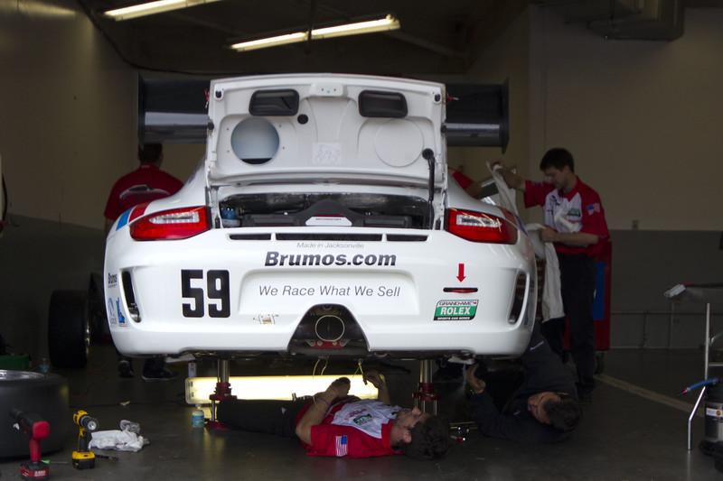 The Rolex Series Opener Week - Captured on Friday Jan 27. Brumos Porsche Garage. Rolex Garage and Practice Shots & The Continental Tire 200 Grand Am.  Rain Day. Daytona International Speedway -
