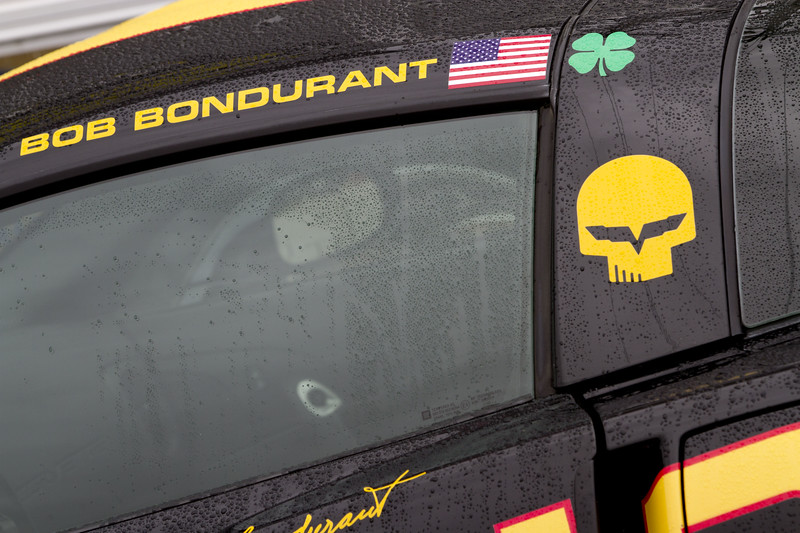 The Rolex Series Opener Week - Captured on Friday Jan 27. A Bondurant Corvette.. Rain Day. Daytona International Speedway -