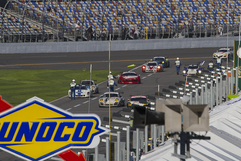 Race leaders staging on Pit Road after the race..