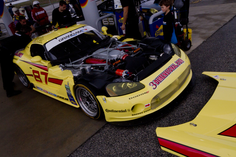 The Rolex Series Opener Week - Captured on Friday Jan 27. #87 Viper. Rolex Garage and Practice Shots & The Continental Tire 200 Grand Am.  Rain Day. Daytona International Speedway -