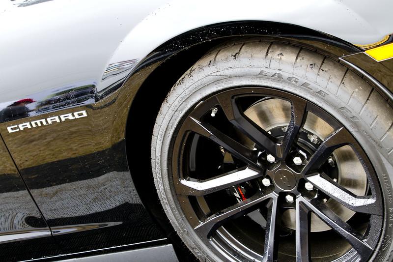 The Rolex Series Opener Week - Captured on Friday Jan 27.  GM Display ZL1 Camaro. Rain Day. Daytona International Speedway -