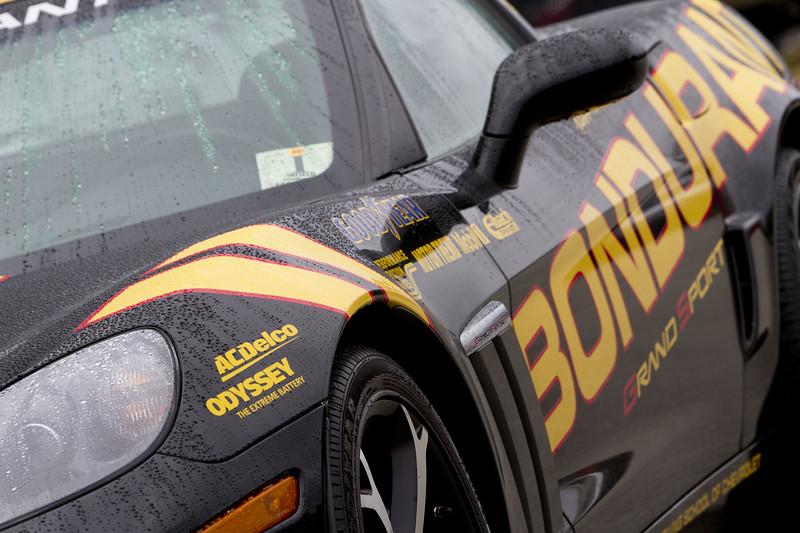 The Rolex Series Opener Week - Captured on Friday Jan 27. A Bondurant Corvette.. Rain Day. Daytona International Speedway -