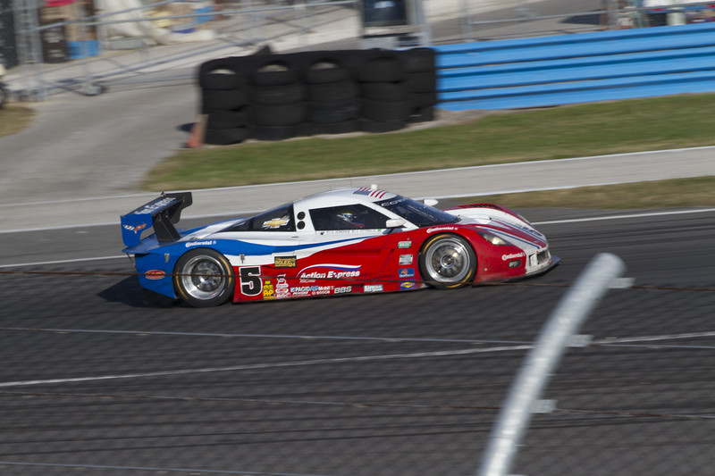 The #5 Corvette on it's cool-down lap after finishing 5th..