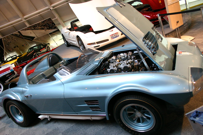Grand Sport Chassis #2. One of only 5 factory fully race prepared Corvettes built in 1963/64 at the direction of then Corvette Chief Engineer Zora Arkus Duntov. On display after restoration to it's original factory condition - On display at the National Corvette Museum - April 2006.