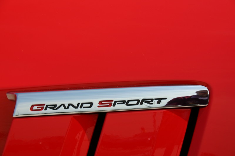 Closeup of design cues - 2010 Corvette Grand Sport.