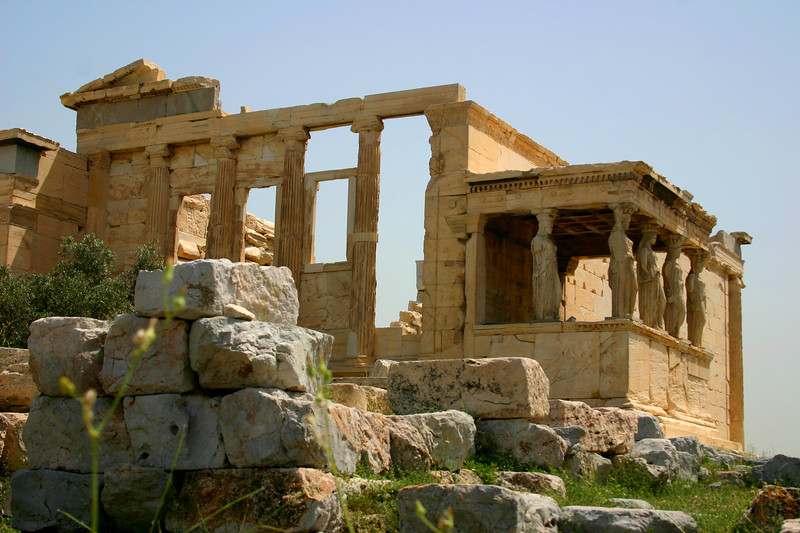 Acropolis - The Erechtheion and it's maiden adorned Portico.