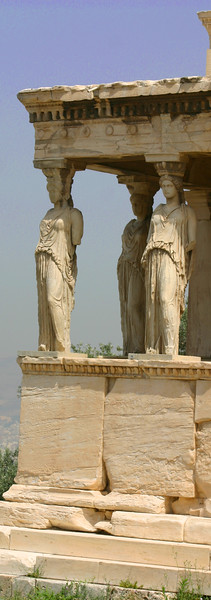 Acropolis - Portico of the Maidens - The Erechtheion.