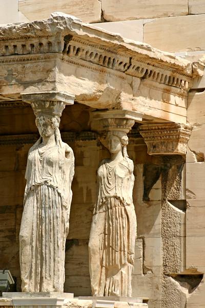 Acropolis - Portico of the Maidens - The Erechtheion.