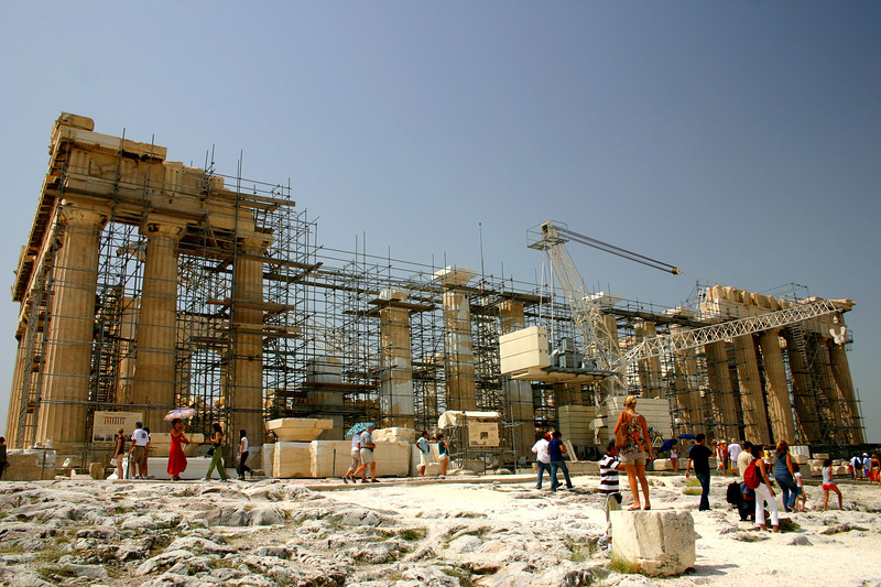 Restoration of the Parthenon was in full swing - Summer 2007