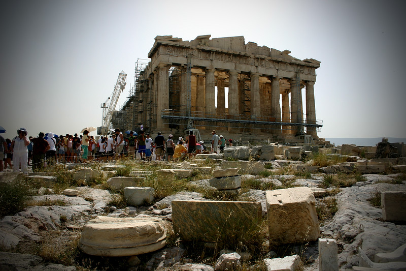 Acropolis - The Parthenon. Restoration in full swing.