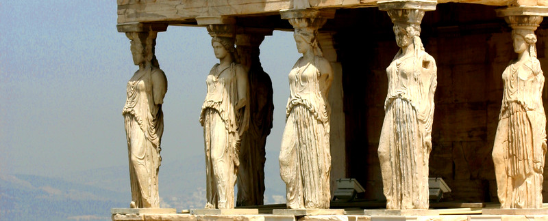 Acropolis - Portico of Maidens, the Erechtheion.