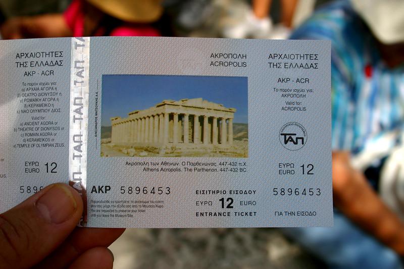 "Acropolis - ""Admit One"""