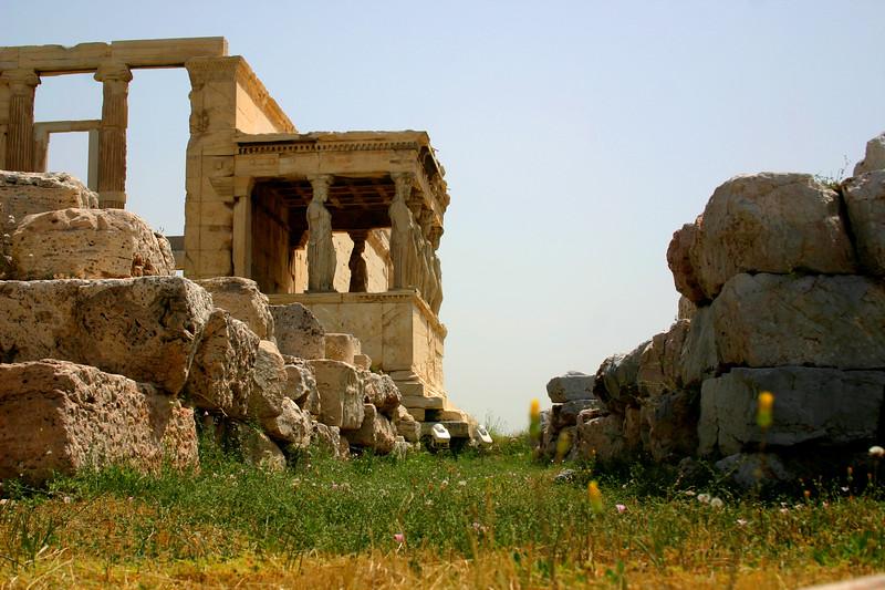 Acropolis - Portico of Maidens, the Erechtheion.