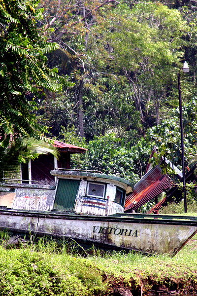 Victoria - an old maiden laid to rest.. along the canal, North of Puerto Limon, Costa Rica