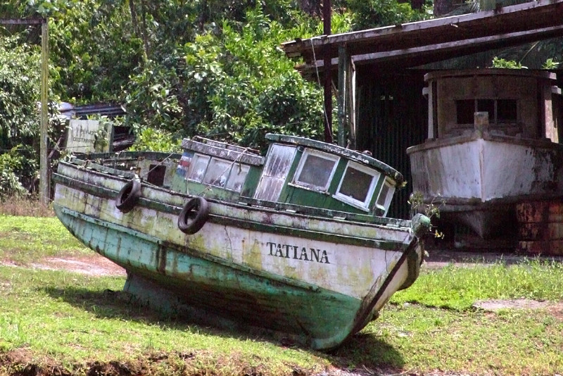 Tatiana..  she's seen better days.. The canal, north of Puerto Limon, Costa Rica.