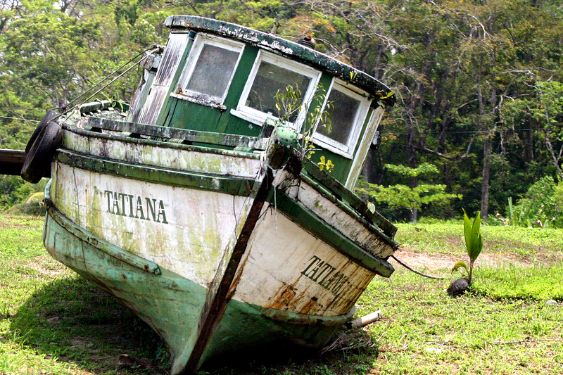 Tatiana - along the canal, north of Puerto Limon, Costa Rica.