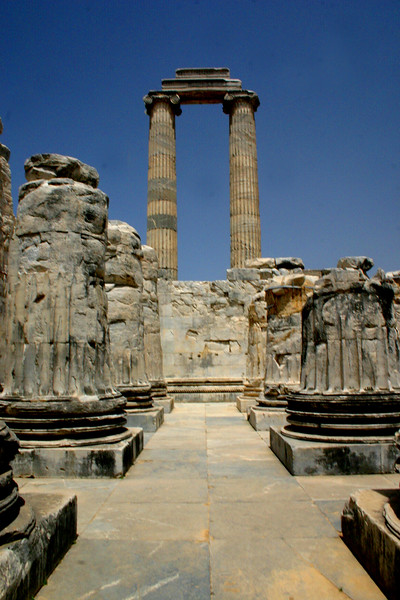 Didyma, Didim, Turkey - the site of the ruins of the Tempel of Apollo