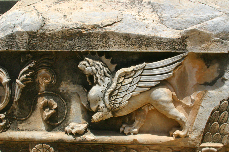 Frieze - Ruins of the Temple of Apollo - Didyma - Didim, Turkey Didyma, Didim, Turkey - the site of the ruins of the Tempel of Apollo