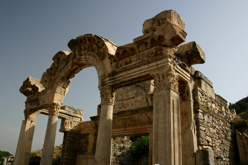 Temple of Hadrian - Ephesus was an ancient Roman and Greek city on the west coast of Anatolia, near present-day Selçuk, Izmir Province, Turkey.
