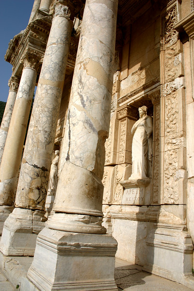 Facade - Library of Celcus - Ephesus was an ancient Roman and Greek city on the west coast of Anatolia, near present-day Selçuk, Izmir Province, Turkey.