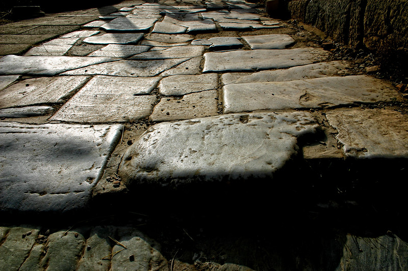 The marble stones of Curetes Way - Ephesus was an ancient Roman and Greek city on the west coast of Anatolia, near present-day Selçuk, Izmir Province, Turkey.