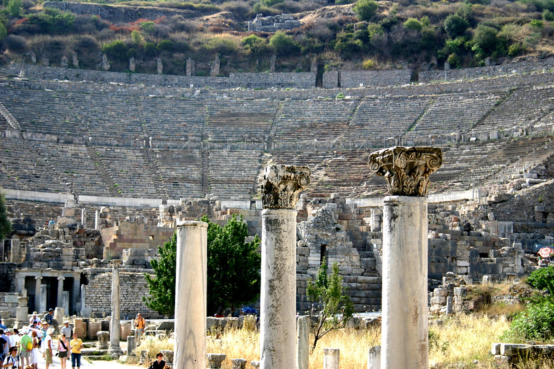 The Great Theatre - Ephesus was an ancient Roman and Greek city on the west coast of Anatolia, near present-day Selçuk, Izmir Province, Turkey.