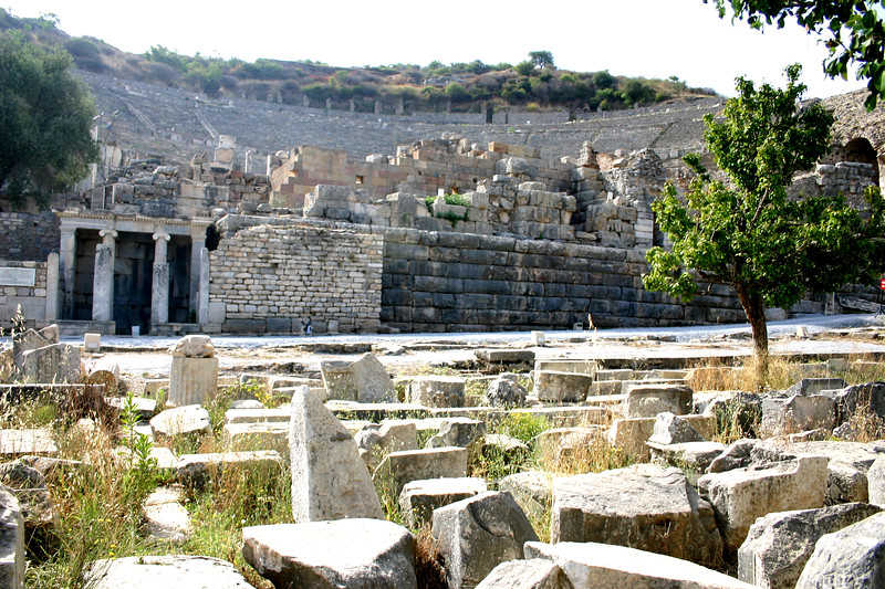 The Great Theatre of Ephesus - Ephesus was an ancient Roman and Greek city on the west coast of Anatolia, near present-day Selçuk, Izmir Province, Turkey.