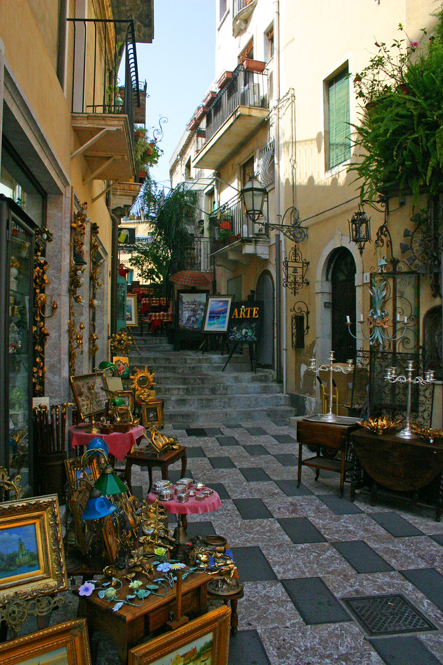 Retail - A mountainside city set intentionally on the cliffs to allow its inhabitants to defend themselves from ancient invaders, the streets of Taormina are as picturesque as any in Europe.