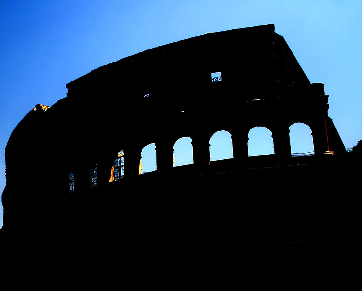 The Roman Colosseum, an eliptical amphatheater, started construction between 70 and 72 AD by Emperor Vespasian and completed in 80 AD under the rule of Titus, it was, and remains the largest amphatheater ever constructed in the Roman Empire.