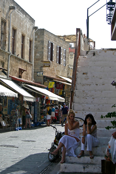 The Greek Isle of Rhodes - a more modern city with a busy port, ample shopping and great views of the sea.