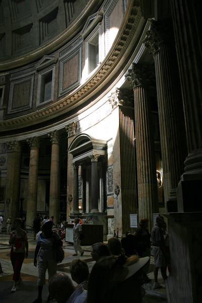 Almost 2000 years old, the Pantheon has been in continuous use since constructed-It is still the worlds largest un-reinforced concrete dome.