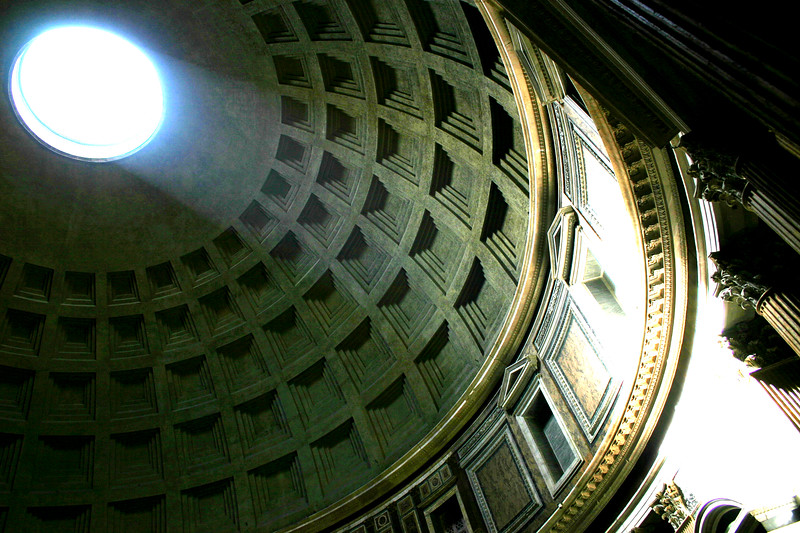 Dome Rotunda - Pantheon, Rome Almost 2000 years old, the Pantheon has been in continuous use since constructed-It is still the worlds largest un-reinforced concrete dome.