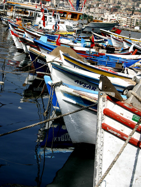 Fishing boats, Port of Kusadasi, Turkey
