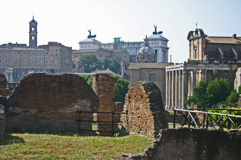 The oldest and most important structures of the old city were located in the forum. The forum served as a city square and central hub where it's enhabitants gathered for justice, and faith. The forum was also the economic hub of Rome and considered to be the center of the Republic and the Roman Empire. The Colosseum sits just to the east.