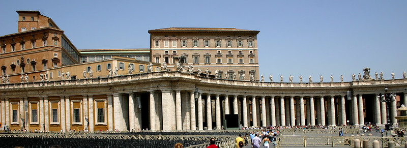 Views from the Vatican Museum and St Peter's Basilica, Vatican City, Rome, Italy