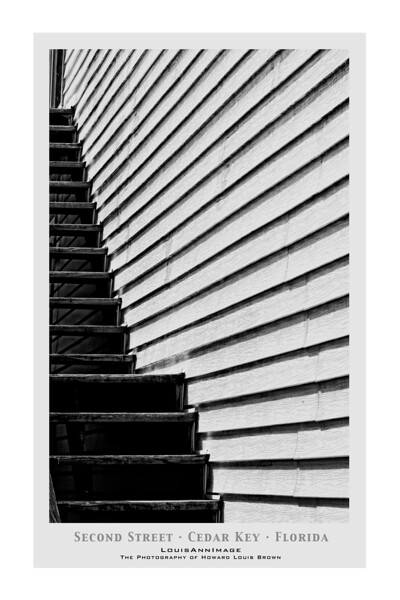 """Contri Date: March 30, 2011 - Strolling on 2nd Street in downtown Cedar Key we happened upon this outdoor stairway.  Well..., you get it.<br /> Visit our Cedar Key Gallery at: <a href=""""http://louisannimage.smugmug.com/Travel/Our-America/Cedar-Key-Old-Floridas-Big/"""">http://louisannimage.smugmug.com/Travel/Our-America/Cedar-Key-Old-Floridas-Big/</a><br /> Thanks, HB"""