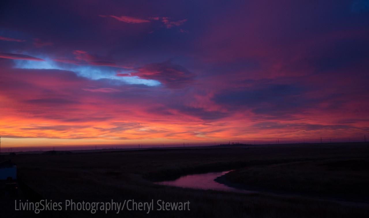 Sunset from the deck - Regina Sask.