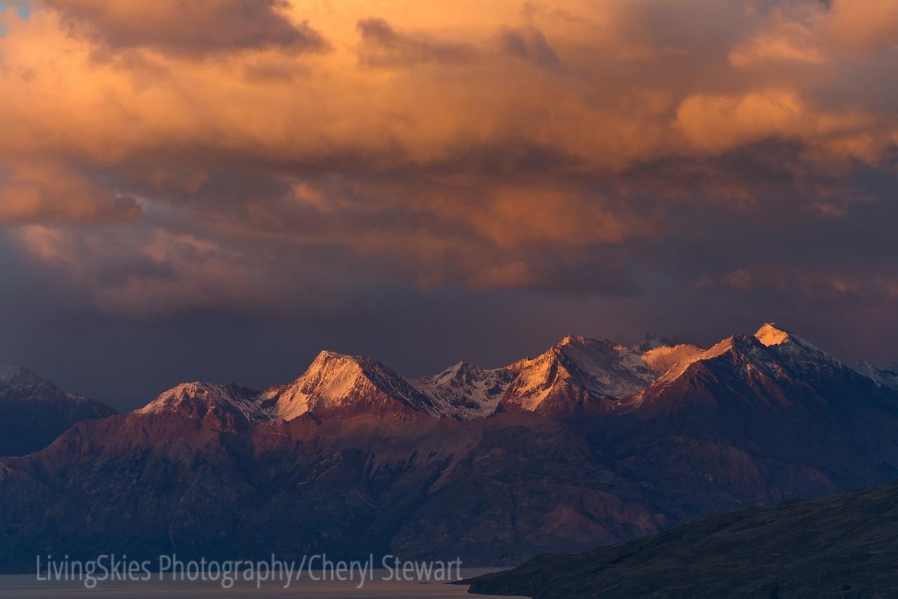 Patagonia scenic at dawn