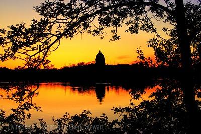 Sunset - Wascana Park - Regina Sask