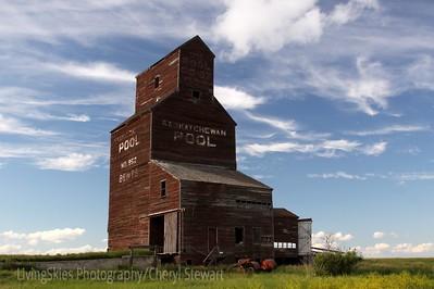 Grain Elevator, Bents Sask, Ghost town