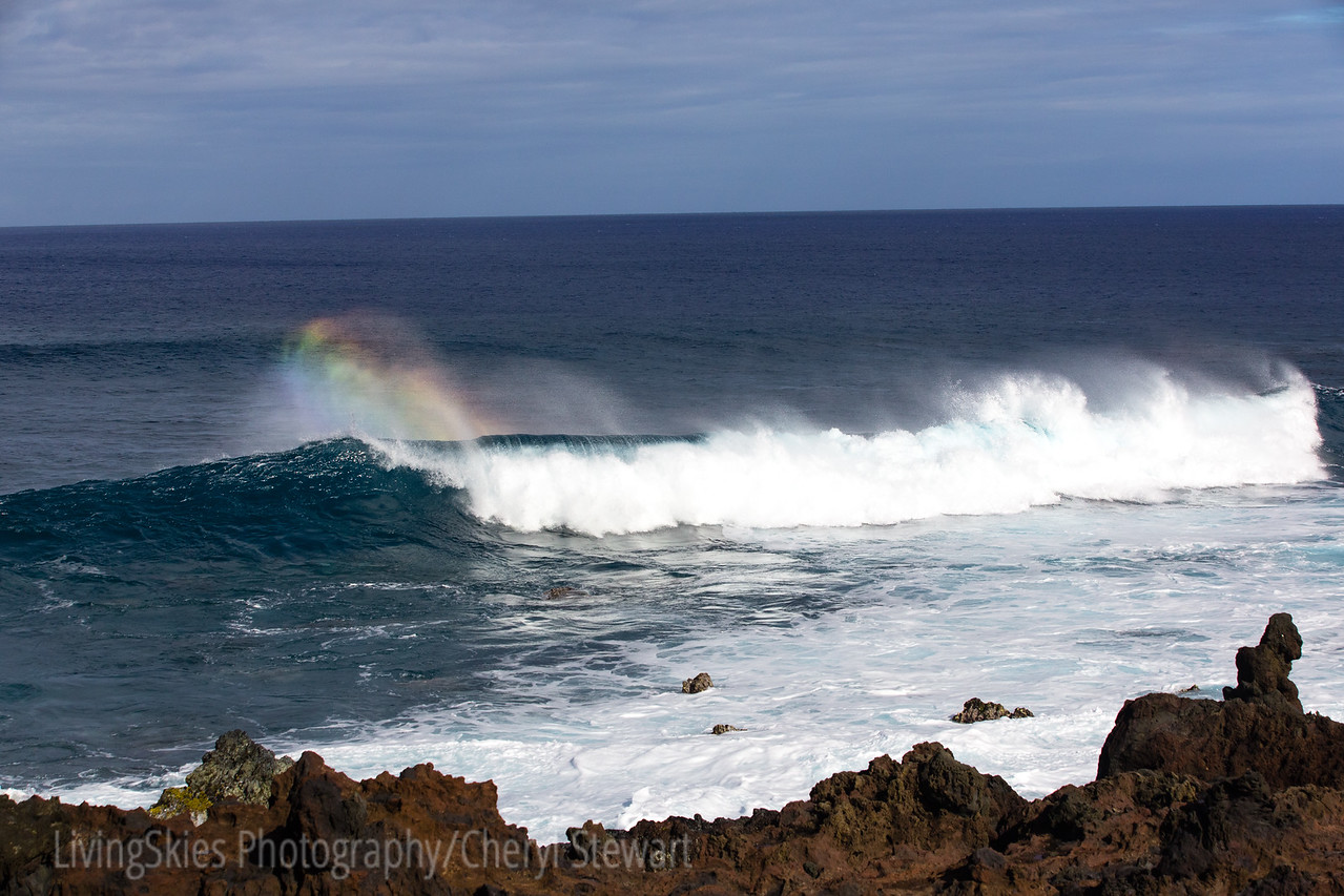 Rainbows in the waves