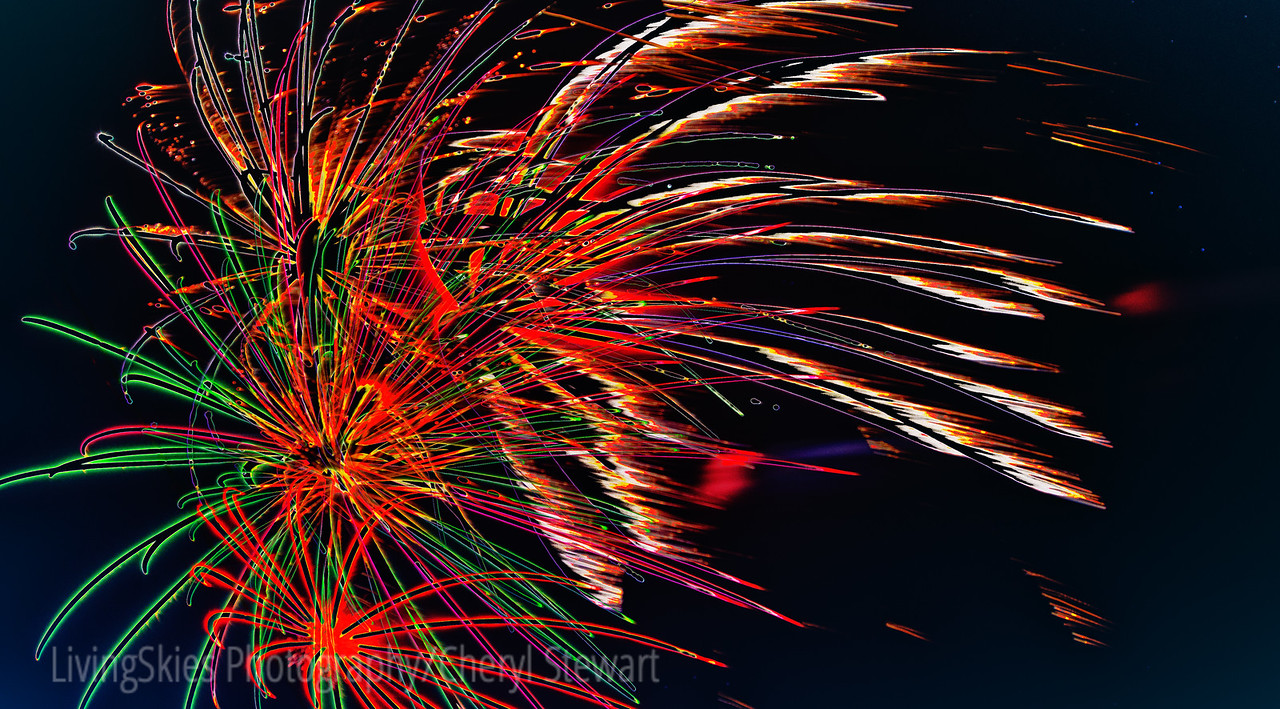 Fireworks at Carberry fair