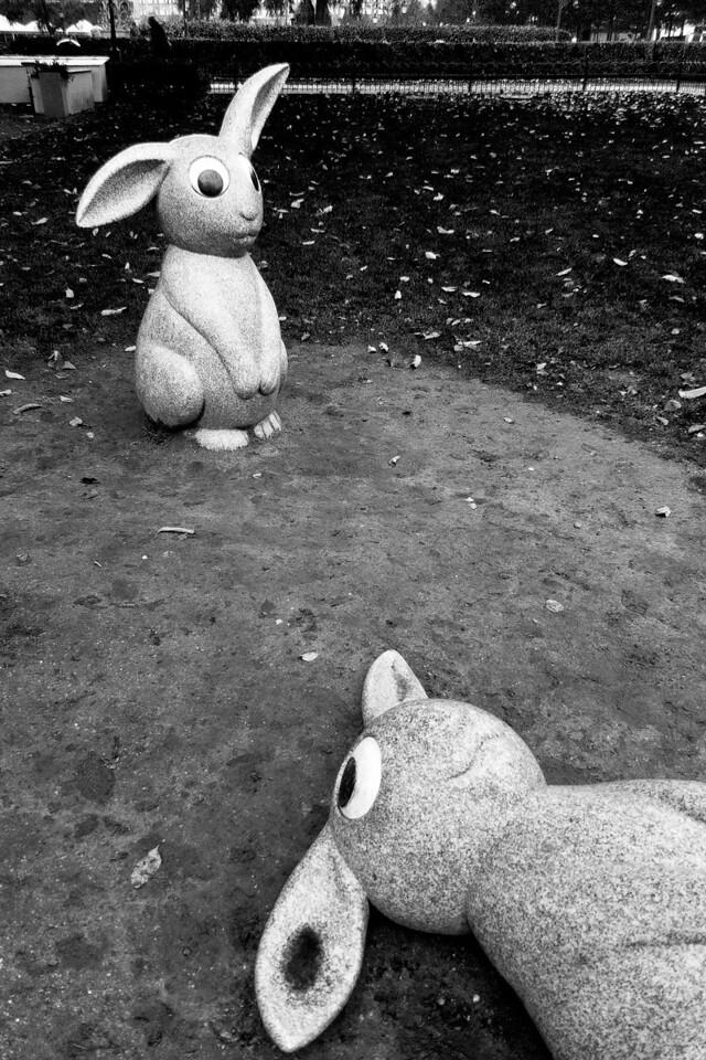 Hares Statues / Статуи зайцев