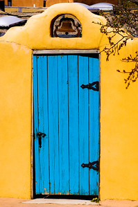 Blue Door with Bell