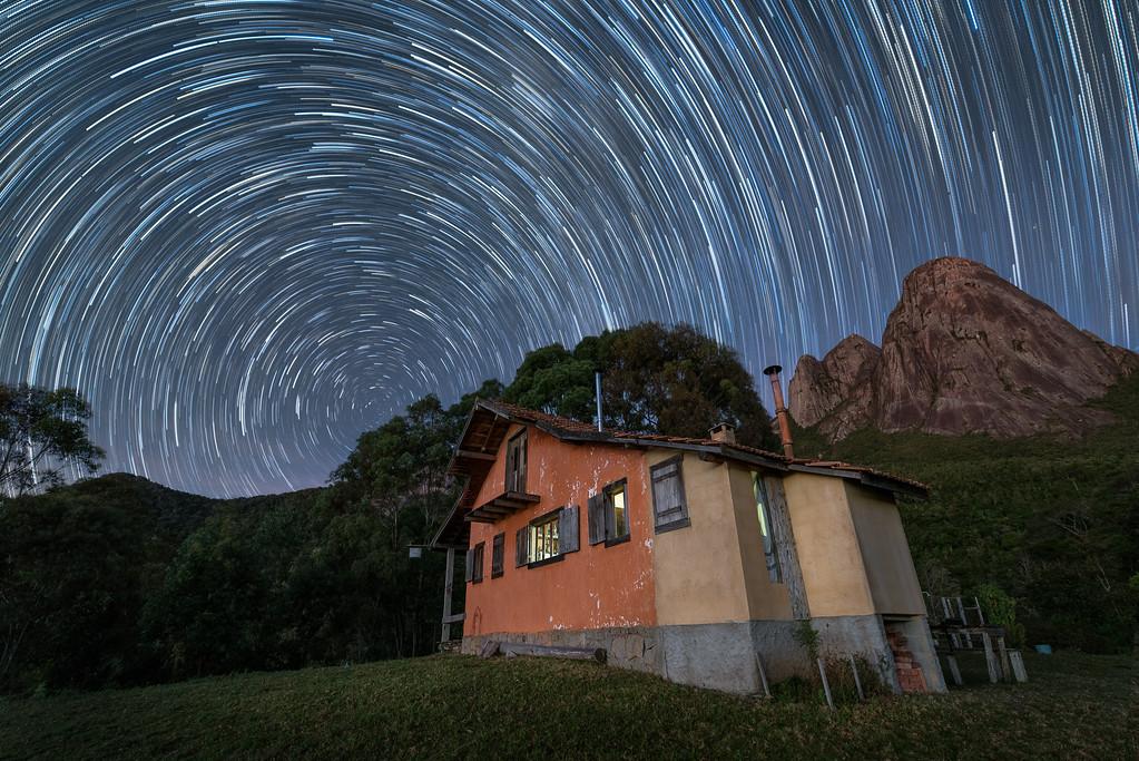Star Trails in Três Picos State Park, Nova Friburgo, Rio de Janeiro , Brazil