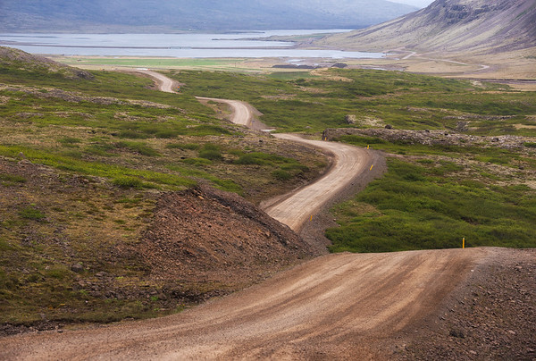 Waved road, Iceland