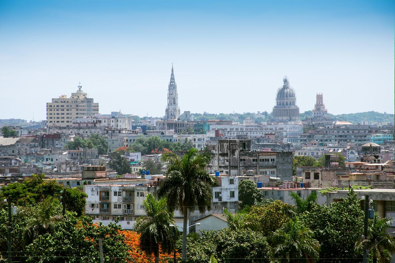 Панорама Гаваны. Вид с мемориала Хосе Марти на площади революции