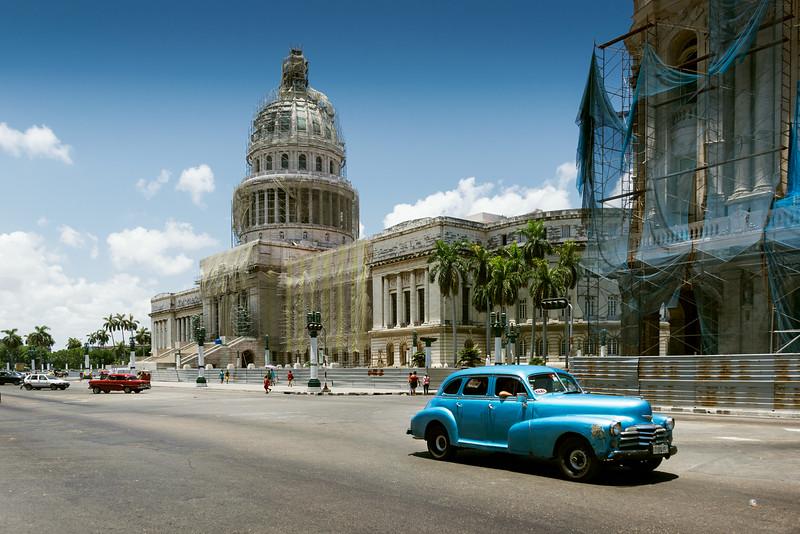 Гаванский капитолий и большой театр во время реставрации