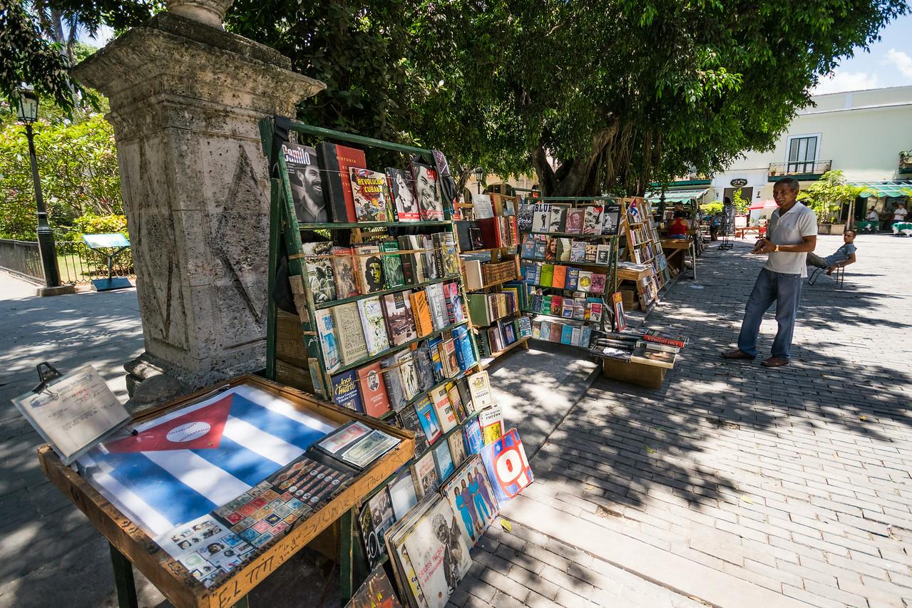 Многие наладили бизнес, продавая революционные книги и прочую аттрибутику: флаги, монеты с портретом Че и т.п.